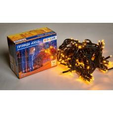 Гірлянда зовнішня DELUX ICICLE 108 LED 2x1m 27 flash жовтий/чорний IP44 EN