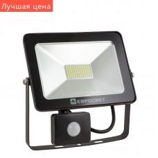 Светодиодный прожектор с датчиком движения 30w 2100Lm 6400K EVRO LIGHT EV-30-01