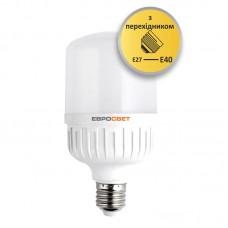 Высокомощная LED лампа EVRO-PL-40-6400-40 40W 6400K E40 (с переходником)