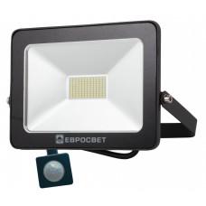 Светодиодный прожектор c датчиком движения 50w 4000Lm 6400K IP65 EVRO LIGHT EV-50-01