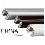 Шинопровод трехфазный 1м (белый, черный, серебро)