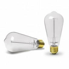 EUROLAMP Лампа ЛОН Капля ArtDeco ST64 60W E27 2700K dimmable (ST64-60272(deco))