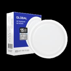 Антивандальный светильник GLOBAL 15W 5000K (IP65) для ЖКХ круг