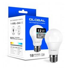 Светодиодная лампа Global A60 12W яркий свет E27