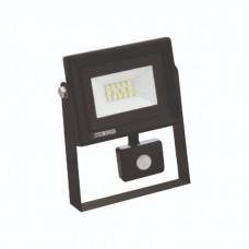 Светодиодный прожектор с датчиком движения S-10, 10W, 6400K
