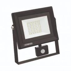 Светодиодный прожектор с датчиком движения S-30, 30W, 6400K