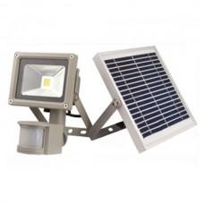 Светодиодный прожектор на солнечной батарее с датчиком движения LMP-20, 20W, 6500K