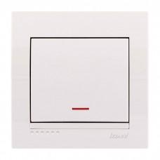 Выключатель с подсветкой Lezard Deriy, белый (702-0202-111)