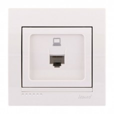Компьютерная розетка Lezard Deriy, белый (702-0202-139)