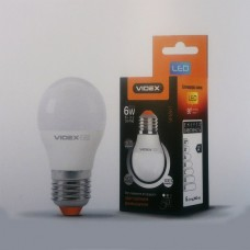 LED лампа VIDEX G45eD3 6W E27 4100K 220V с регулировкой яркости