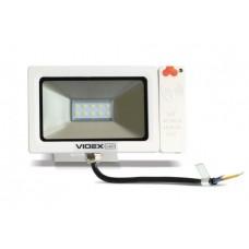 Лед прожектор с датчиком движения VIDEX Slim Sensor 10W 5000K 220V White (VL-FS105W-S)