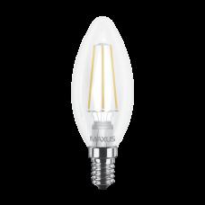 LED лампа MAXUS (филамент), C37, 4W, мягкий свет,E14 (1-LED-537) (NEW)