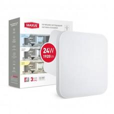 Умный накладной светильник MAXUS 3-step 24W 3000-6500K квадрат