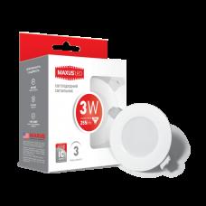 LED светильник MAXUS SDL, 3W яркий свет (1-SDL-011-01)