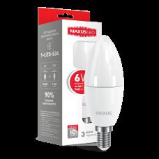 Led лампа MAXUS 6W яркий свет C37 Е14 (1-LED-534)