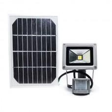 Светодиодный прожектор на солнечной батарее с датчиком движения LMP-10, 10W, 6500K