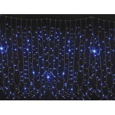 Уличная гирлянда DELUX CURTAIN 1520LED 2x7m синий свет IP44 EN