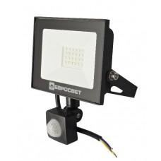 Прожектор с датчиком движения ЕВРОСВЕТ, 20W, 6400K