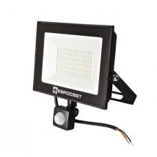 Светодиодный прожектор c датчиком движения ЕВРОСВЕТ 50w 6400K IP65