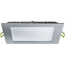 Потолочный аварийный светильник врезной от 6W до 24W, квадрат