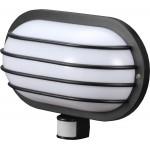 Светильник настенный с датчиком движения (черный) 180°, IP44