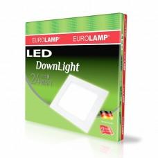 Светодиодный EUROLAMP LED Светильник квадратный DownLight 24W 4000K