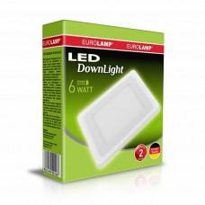 Светильник светодиодный квадратный EUROLAMP LED 6W 4000K (белый)