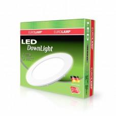 Светодиодный светильник EUROLAMP LED  круглый DownLight 6W 4000K