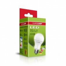 Классическая светодиодная EUROLAMP LED Лампа ЕКО А60 15W E27 4000K