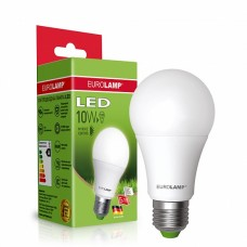 Классическая светодиодная лампа EUROLAMP LED ЕКО A60 10W E27 3000K