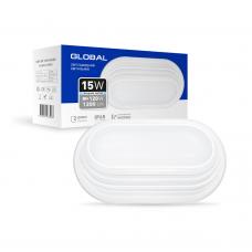 Антивандальный светильник GLOBAL GBH 05 15W 5000K (IP65) для ЖКХ овал