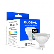 Светодиодная лампа Global MR16 5W яркий свет GU5.3
