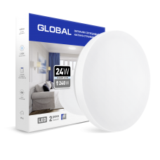 Накладной светильник GLOBAL 24W 4100К (защита IP44) круг