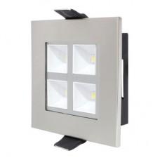 Светильник встраиваемый HL680L 4W 2700K (серебристый/хром)
