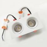 Врезной светильник 2х12W (черный)