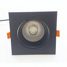 Врезной светильник 12W (черный)
