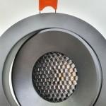 Врезной светильник 12W UGR (черный)