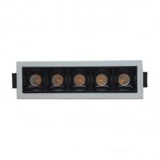 Врезной светильник 6W (черный)