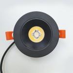 Врезной светильник 7W (черный)