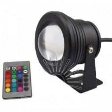Архитектурный прожектор 10W (RGB-разноцветный, с пультом)