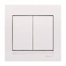 Выключатель двойной Lezard Deriy, белый (702-0202-101)