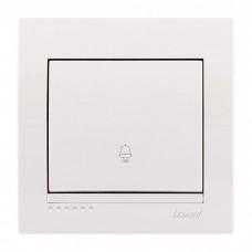 Кнопка звонка Lezard Deriy, белый (702-0202-103)