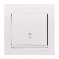 Выключатель проходной Lezard Deriy, белый (702-0202-105)