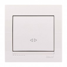 Выключатель промежуточный Lezard Deriy, белый (702-0202-107)