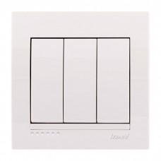 Выключатель тройной Lezard Deriy, белый (702-0202-109)