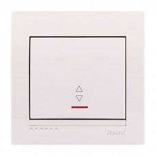 Выключатель проходной с подсветкой Lezard Deriy, белый (702-0202-114)