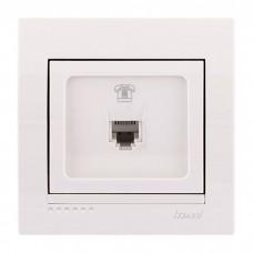 Розетка телефонная евро Lezard Deriy, белый (702-0202-137)