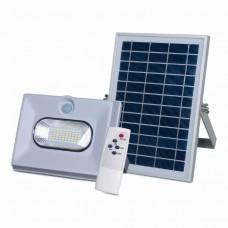 Прожектор светодиодный на солнечной батарее 50W с пультом (с датчиком движения)
