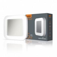 LED светильник ART (ЖКХ) квадратный VIDEX 15W 5000K 220V