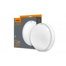 LED светильник (ЖКХ) круглый VIDEX 9W 5000K 220V белый